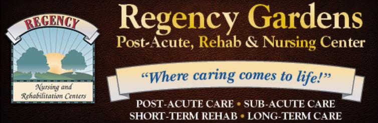 regency gardens banner regency nursing post acute rehabilitation