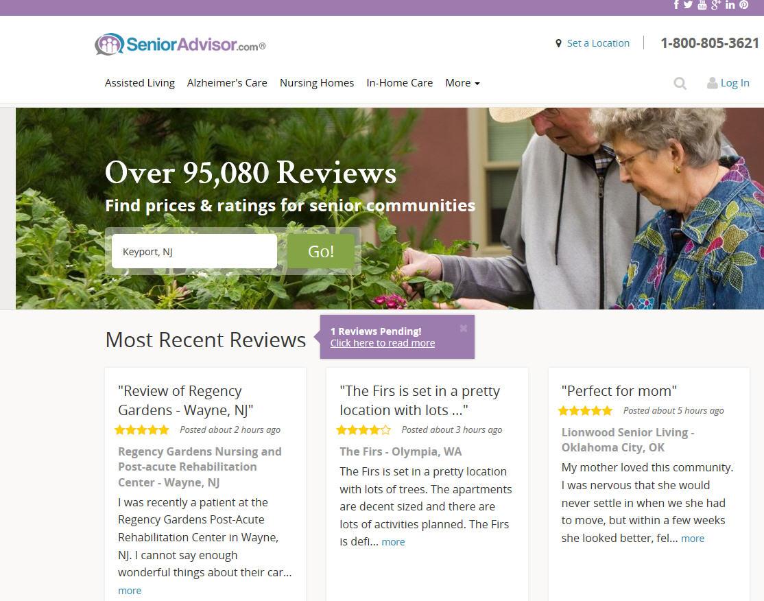 regency gardens testimonial featured on homepage