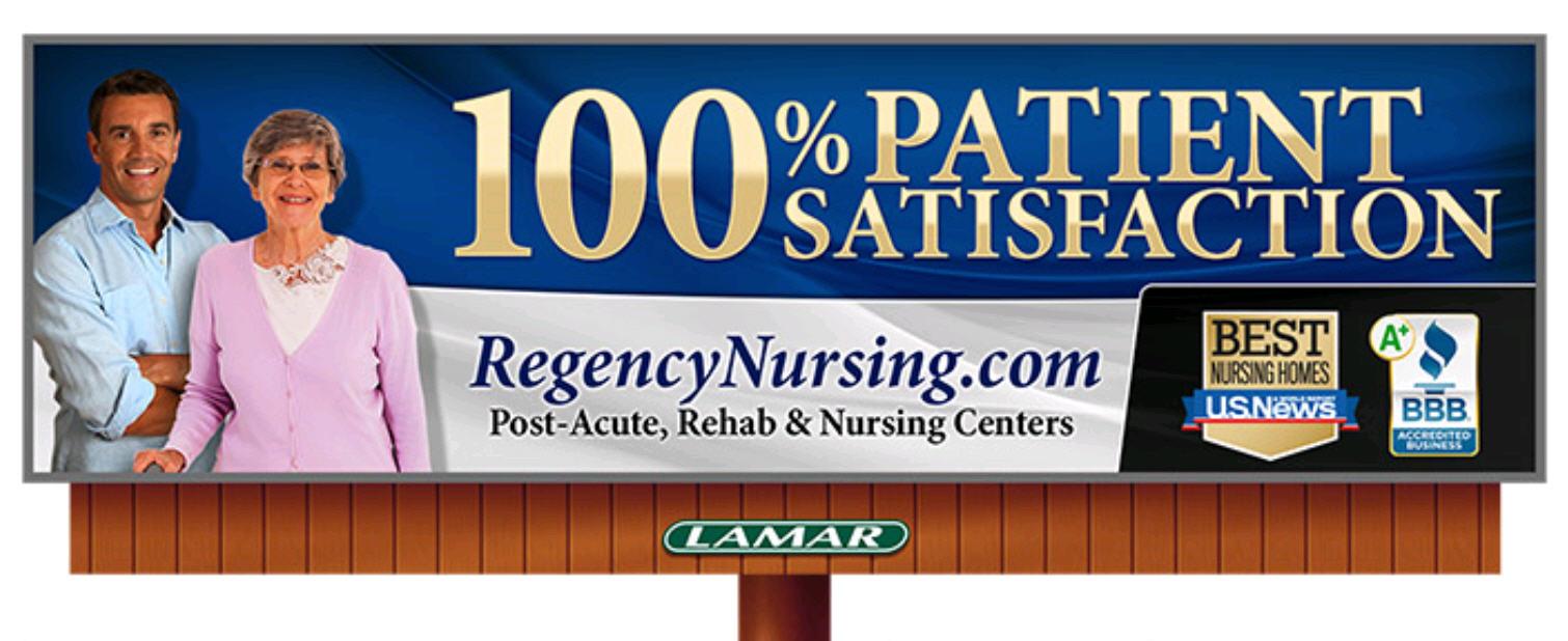 our new regency digital billboards regency nursing post acute